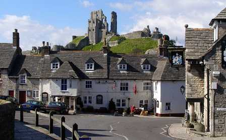 Corfe Castle and Greyhound